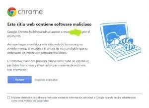 Software malicioso detectado por Google AdWords