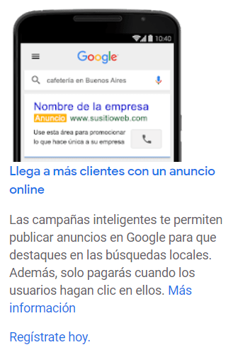 busquedas locales Google Ads