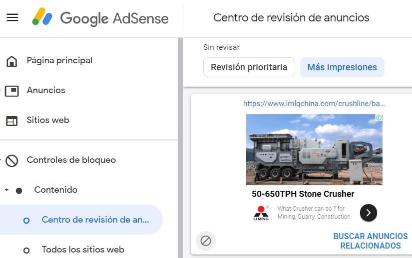 Google AdSense Bloque de Anuncios