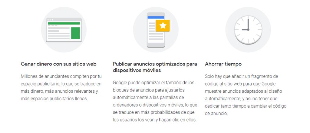 Ventajas de google AdSense