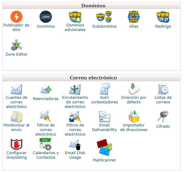red-dominios-correos-cpanel