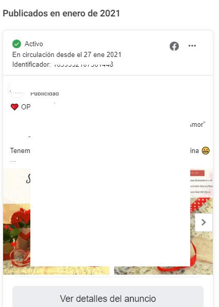 Fechas Biblioteca Ads Facebook